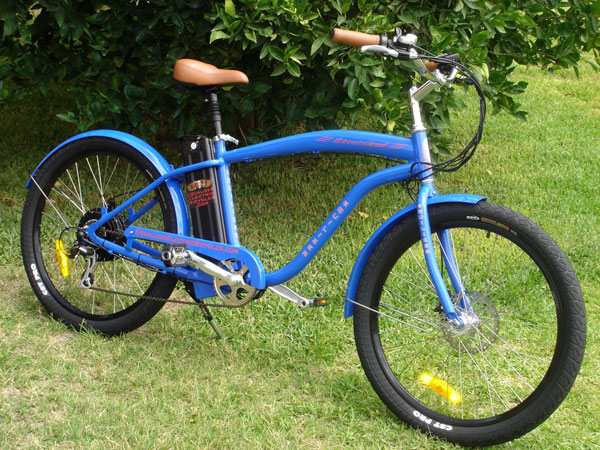 Equalizer Electric Bicycles - Stretched Electric Beach Cruiser